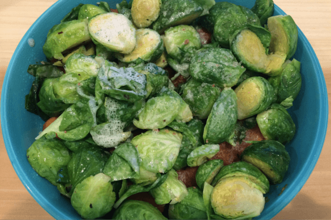 Biggi Does Detox Day 1 Brussel Sprouts